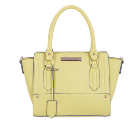 Miss Selfridge Mini Wing Tote Bag – Yellow
