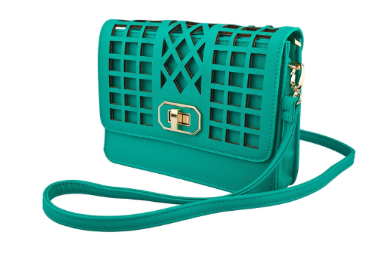 Miami Mami Cutout Crossbody – Aqua